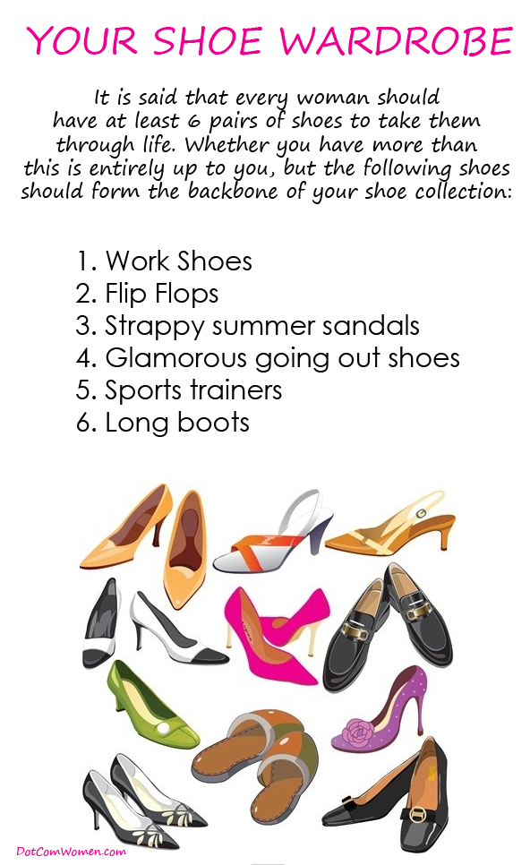 Here's what you should have in your shoe collection