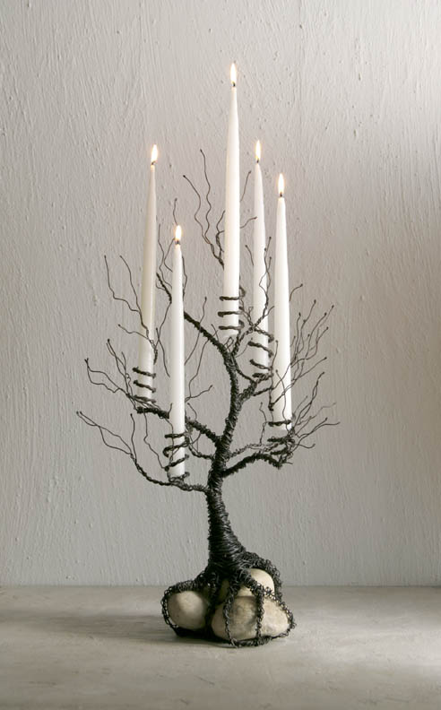 Wire Tree Candle Holder