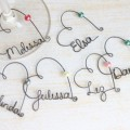 wire name wine glass charms