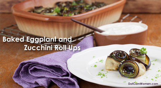 Baked Eggplant and Zucchini Roll Ups