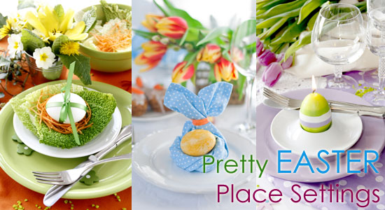 10 Place Settings to Create a Pretty Table for Easter