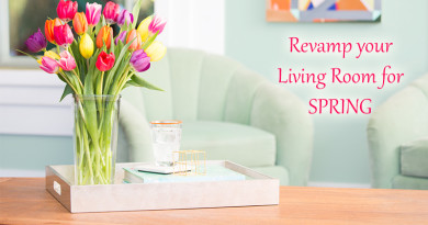 Revamp your Living Room for Spring