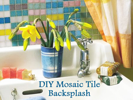 DIY Mosaic Tile Backsplash for Your Bathroom