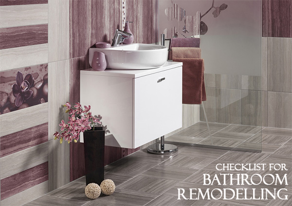 Checklist for Bathroom Remodelling