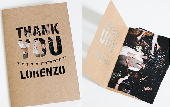 Diy Thank You Wedding Cards