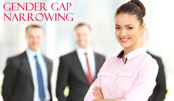 Gender Gap Narrowing