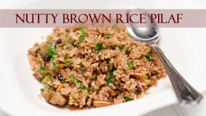 Nutty Brown Rice Pilaf