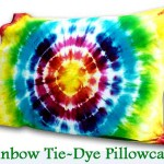 DIY Rainbow Tie Dye Pillowcase