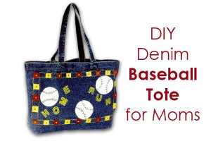 DIY Baseball Tote Bag for Moms