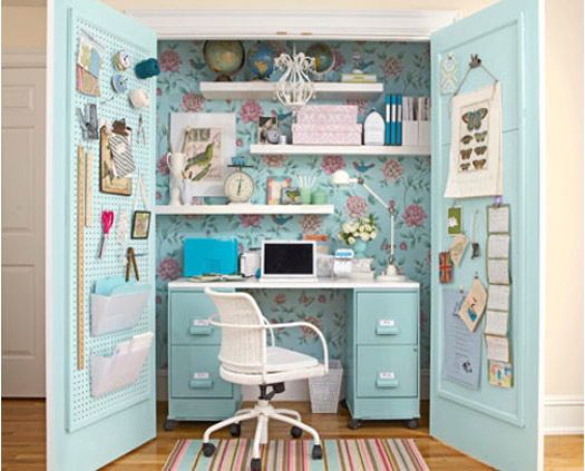 Create the perfect home office with a feminine touch dot for Creating a home office
