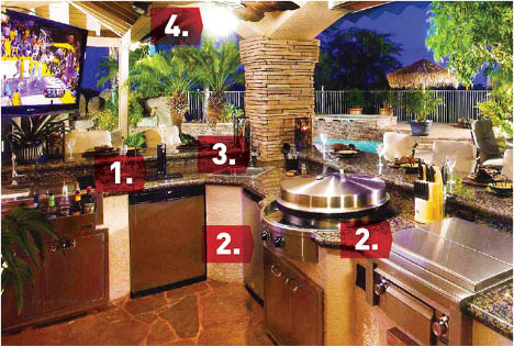 perfect outdoor kitchen