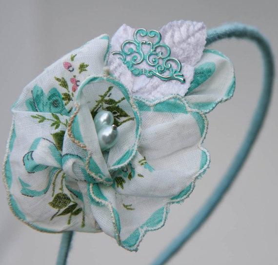 Crafts Using Vintage Handkerchiefs
