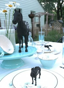 Chalkboard horses for a Grand National themed party