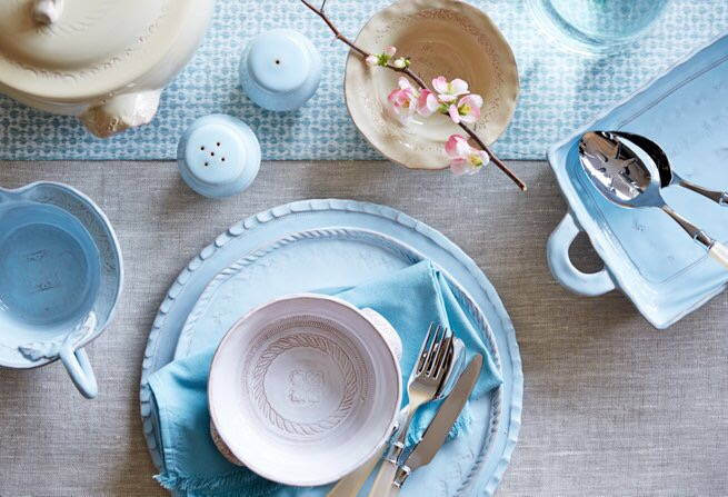 Bellezza Tableware collection by Vietri & Pastel Blue Dinnerware Selections for Your Easter Table - Dot Com Women