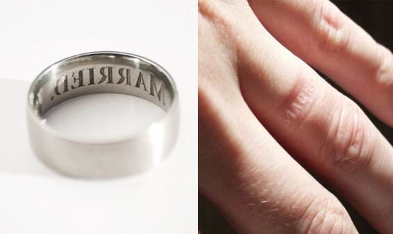 Quirky, Anti-Cheating Ring - Unique Men's Wedding Rings