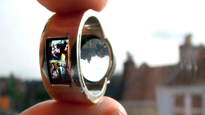 Unique Portrait Projector Wedding Ring