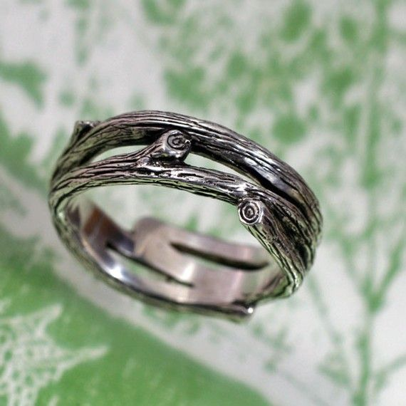 Twig Wedding Ring - Unique Wedding Rings for Men