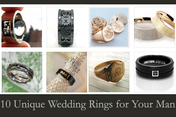 10 Unique Wedding Rings for Your Man