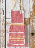 Rosy Pink Crocheted Apron
