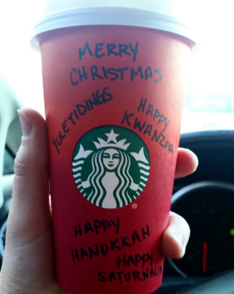 Modified Starbucks Christmas Cup Versions