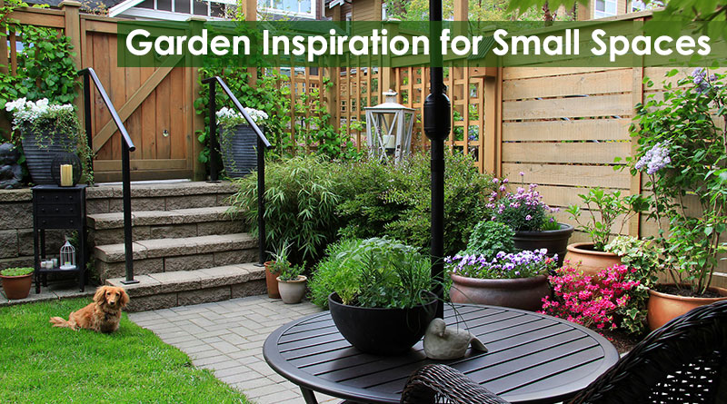 Garden inspiration for small spaces dot com women for Landscape gardening for small gardens