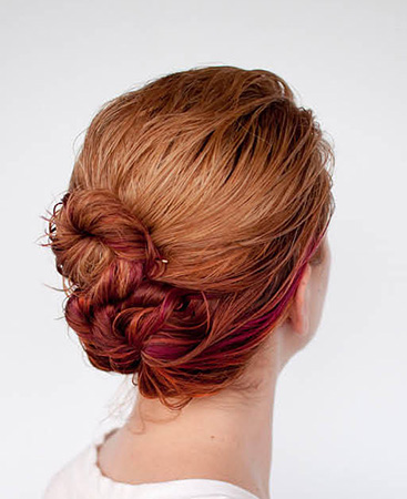 Triple twist bun - Wet Hair Styles