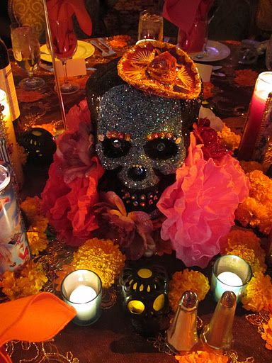 halloween skull mask centerpiece
