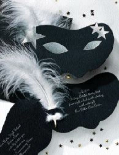 halloween masquerade party invitation