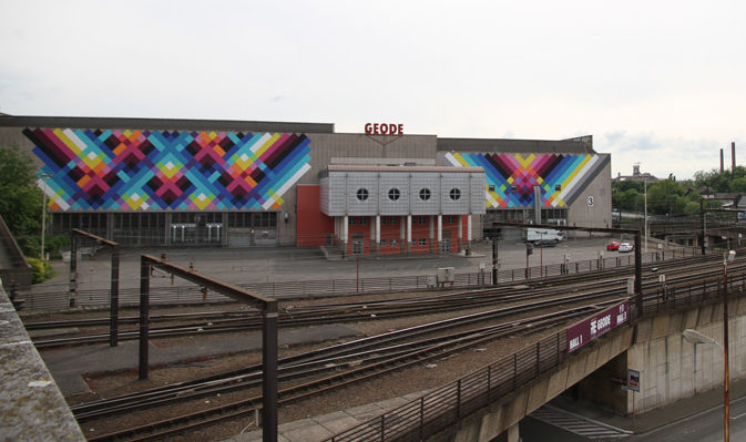 Mural Painting by Maya Hayuk in Charleroi