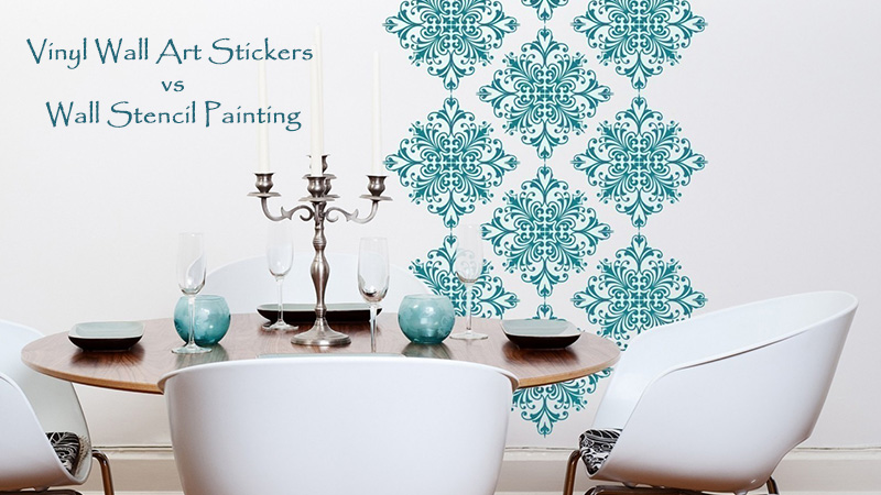Vinyl wall art stickers or wall stencil painting which is better