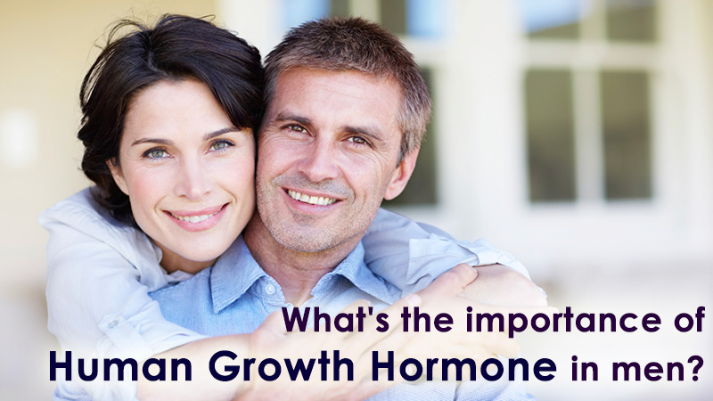 What's the importance of human growth hormone in men?
