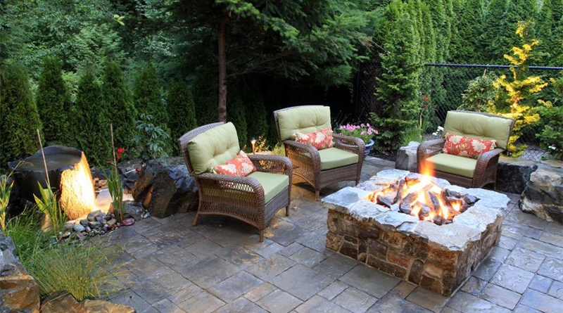 Functional outdoor spaces - backyard fire pit