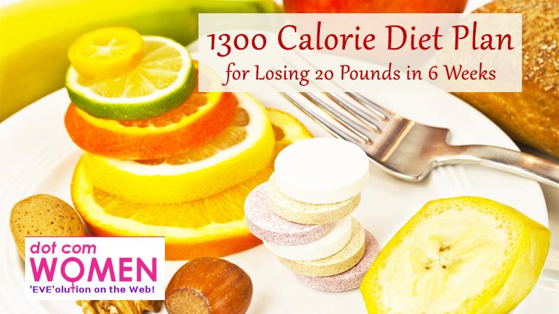 1300 calorie diet plan for female