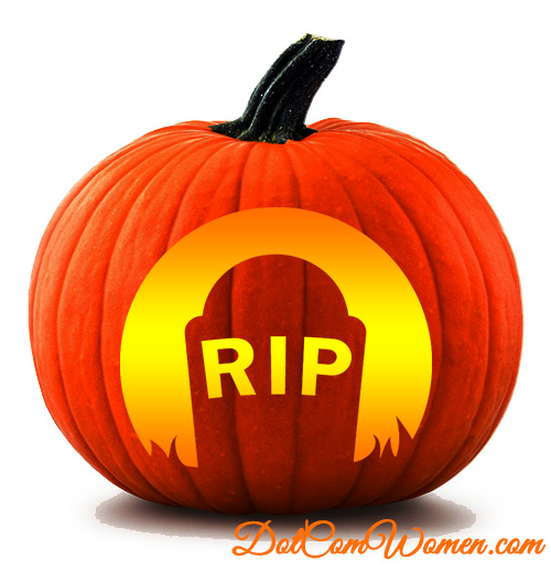 rip grave pumpkin pattern