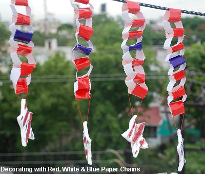 Paper Chain Decorations - Fourth of July Decorating Ideas - Dot ...