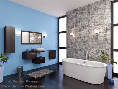 Blue And Brown Master Bathroom