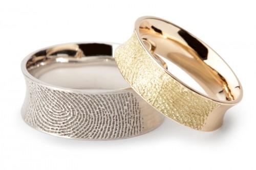 Fingerprint Wedding Ring Unique Rings For Men