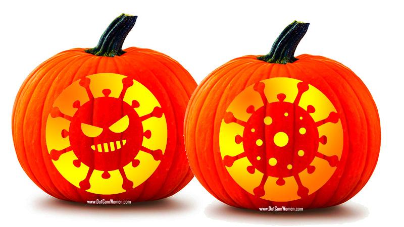 Halloween Pumpkin Carving Shapes.Coronavirus Pumpkin Carving Patterns Dot Com Women